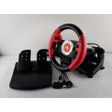 Volante Con Pedal Y Freno, Compatible Con Pc-usb, Ps2 Slim,