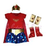 Disfraz De Mujer Maravilla Niña. La Costura De Raymi