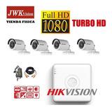 Kit 4 Camaras Vigilancia Bullet Hikvision Turbo Hd 1080p Jwk