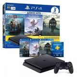 Playstation 4 Ps4 .slim 1tb +3 Juegos 1 --- Fact Electronica