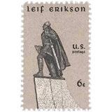 Us Sc #1359 - 1968 6c Leif Erikson Con Matasello.