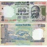 Billete De La India 100 Rupias Unc Apo