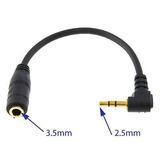 Cable 2.5mm Macho A 3.5mm Enchufe Hembra Mini Jack Auricular