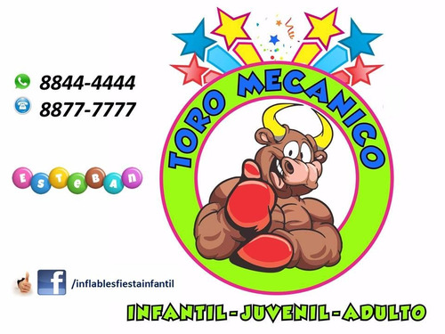 Animación Fiesta Vaquera Toro Mecanico