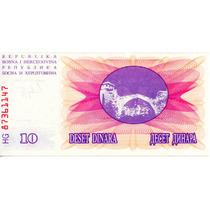 Billete De Bosnia Hercegovina 10 Dinara Unc