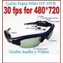 Cámara Espía Mini Dv Dvr Sun Glasses Spy Audio Video Cctv Pc
