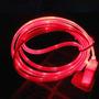 Cable Datos/carga Alumbra Rojo Led Usb Sincroni Iphone 5g 5s