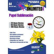 Papel Para Sublimación 25 Hojas,sublimar,tintas,planchas,ink
