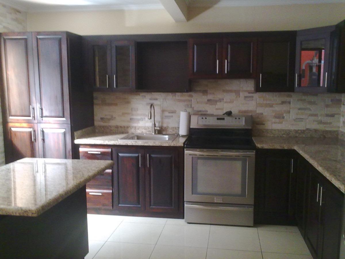 Muebles aereos de cocina en madera 20170722215303 for Cocinas lineales de cuatro metros