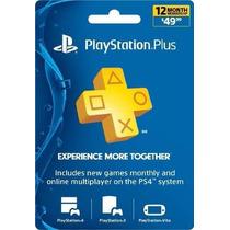 Playstation Plus 12 Meses (codigo Digital)
