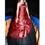 Vestido 15 Años Rojo, Importado De China.