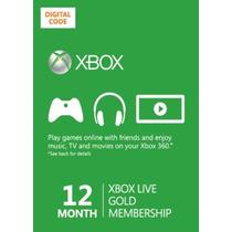 Xbox 360 One Live Membresia Gold Tarjetas Prepagadas